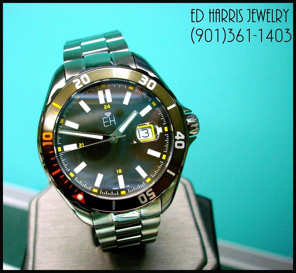 Gun Metal Grey Stainless Steel Casing and band, Water Resistant (330 feet), Sapphire Crystal, Luminous, Rotating Diver Bezel, Screw Down Crown. Sale Price: 350.00 (Black Leather Watch Case and 3 Year Warranty Included). — at Ed Harris Jewelry.